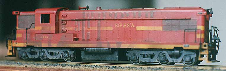 Ferreomodelo da locomotiva AS-616 modificado